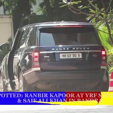 Spotted- Ranbir Kapoor at YRF Studios & Saif Ali Khan in Bandra _ SpotboyE