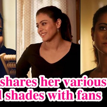 Kajol shares her various mood shades with fans