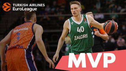 MVP for October: Marius Grigonis, Zalgiris Kaunas