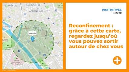 Reconfinement : grâce à cette carte, regardez jusqu'où vous pouvez sortir autour de chez vous