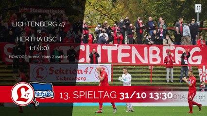 Reiniger repetiert, Rekik rettet | Lichtenberg 47 - Hertha BSC (Regionalliga Nordost)