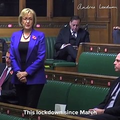 Andrea Leadsom on England's second lockdown