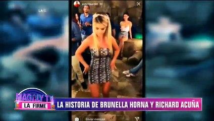 Así inició la relación entre Brunella Horna y Richard Acuña