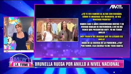 """Brunella Horna pide boda a Richard Acuña: """"La excusa de la pandemia ya me tiene harta"""""""