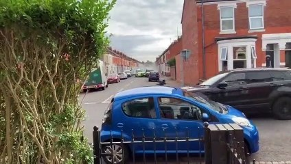 William Parker is brought to a halt in Cedar Road following a high speed police chase across Northampton