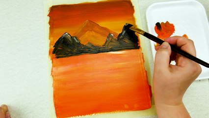 Acrylic Painting Board for Beginners on Canvas _ Acrylic Painting Tutorial