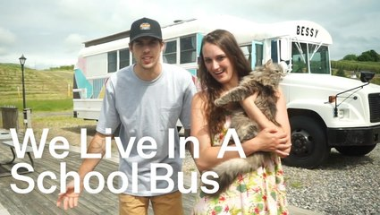 What It's Like Living In A Refurbished School Bus