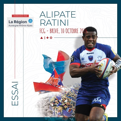 Video : Video - L'essai d'Alipate Ratini contre Brive, saison 2014-2015