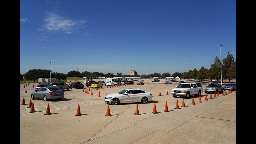 Drive-thru polling sites close in largest county in Texas for Election Day