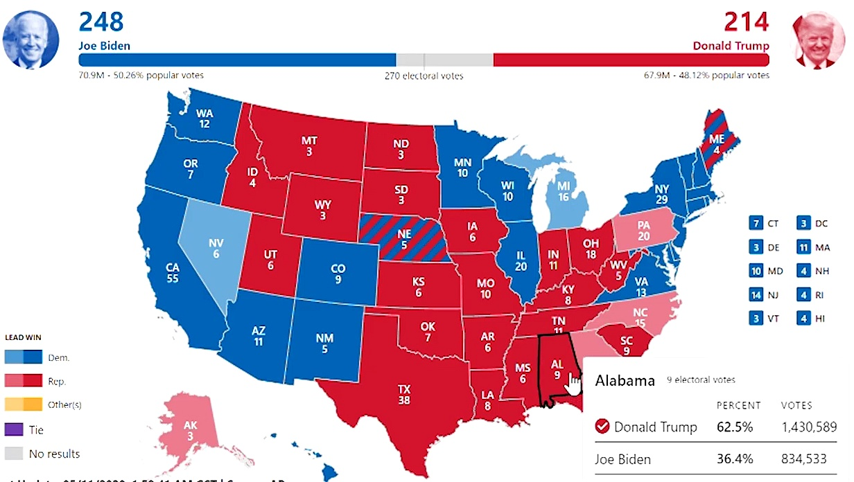 US election 2020 results Joe Biden won obviously – – 2020 Election  Prediction
