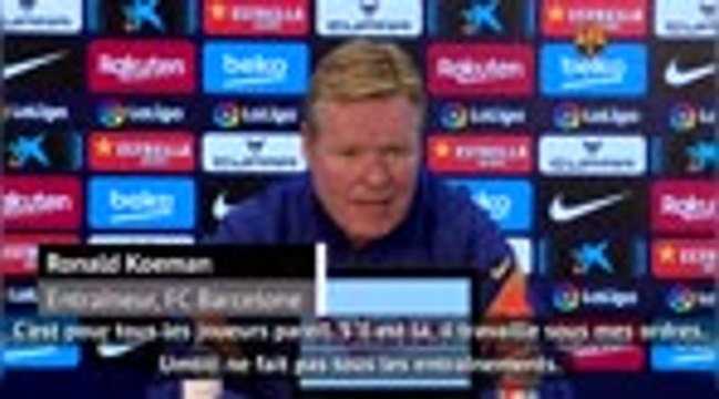 """Barcelone - Koeman : """"Si Umtiti va bien, je compterais sur lui"""""""