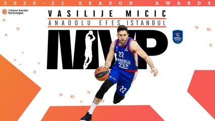 Efes's Vasilije Micic is voted the EuroLeague's 2020-21 season MVP!