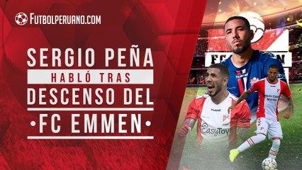 Sergio Peña rompió su silencio y se refirió al descenso con Emmen   Selección Peruana
