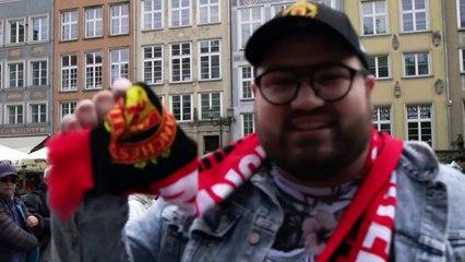 Manchester United fans gather in Gdansk