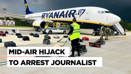 How Belarus Hijacked A Passenger Jet To Arrest Dissident Journalist