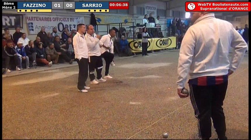 Supranational d'Orange 2017 : Huitième FAZZINO vs SARRIO