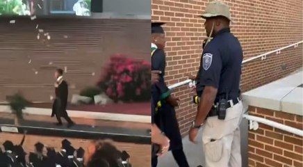 Metro Marrs, rising Atlanta rapper, gets thrown out of his graduation for throwing $10,000 in the air, getting arrested