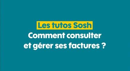 MySosh - Consulter et gérer ses factures