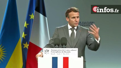 Inauguration du Centre culturel francophone du Rwanda, Emmanuel Macron