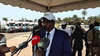 Inauguration du premier dépôt gazier de Guinée à Kamsar- Intervention du ministre des Hydrocarbures, Diakaria Koulibaly