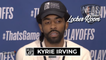 Kyrie Irving Reacts to Fan Throwing Water Bottle at Him