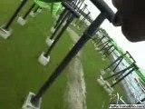 X FLIGHT montagne russe looping  roller coaster