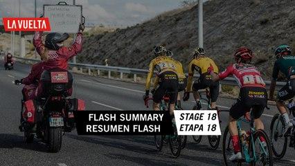 Resumen Flash / Flash Summary - Etapa 18   La Vuelta 20