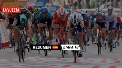 Resumen - Etapa 18   La Vuelta 20