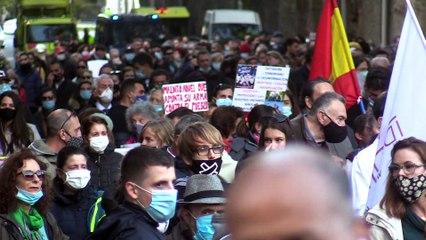 Policías por la libertad: protesta contra la imposición de la mascarillas