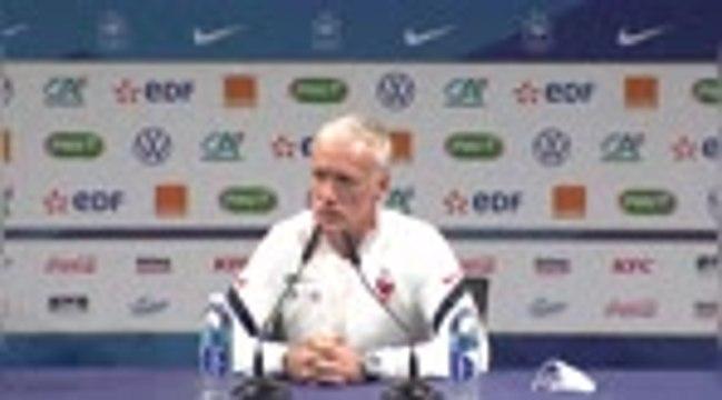 """Bleus - Deschamps : """"Pas la même équipe contre la Finlande et le Portugal"""""""