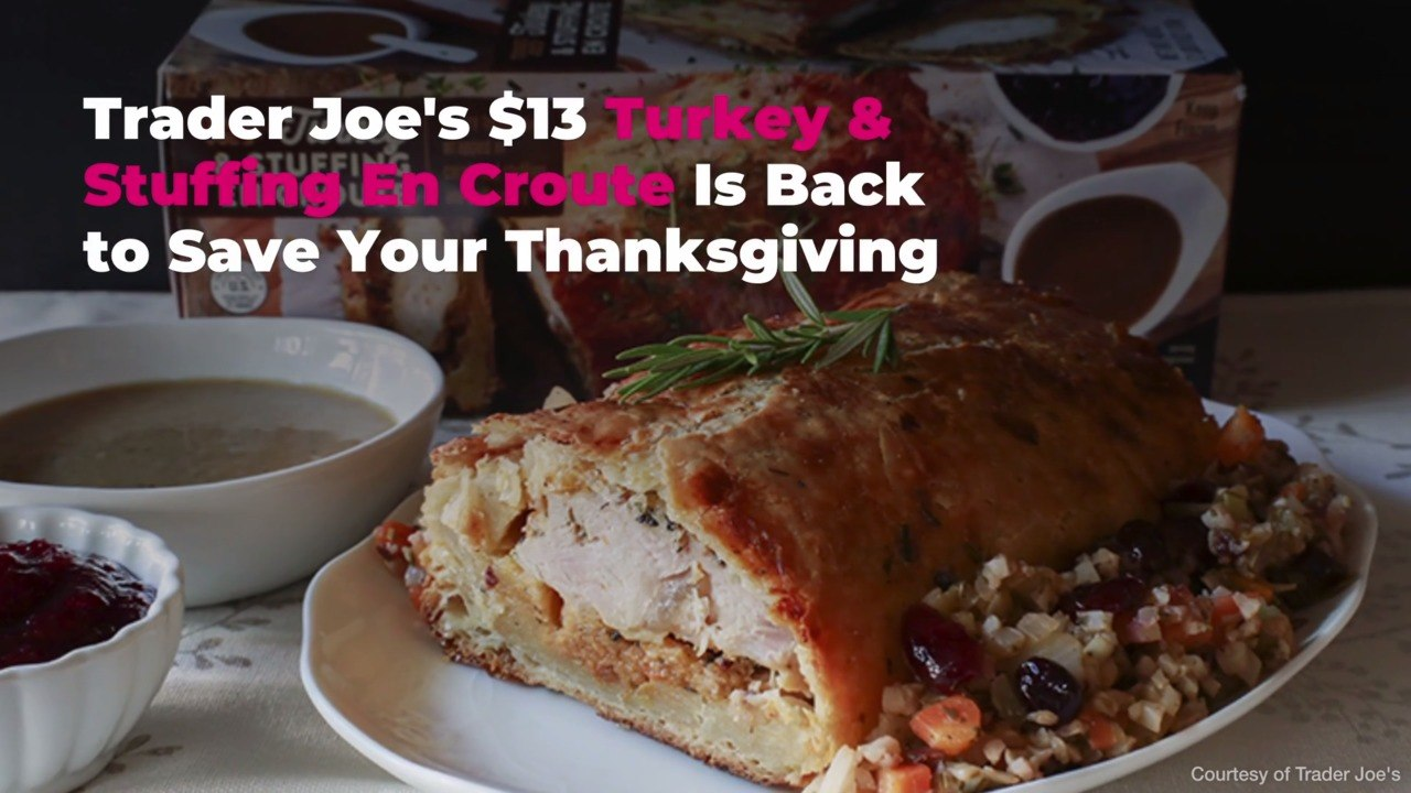 Trader Joe S 13 Turkey Stuffing En Croute Is Back To Save Your Thanksgiving Video Dailymotion