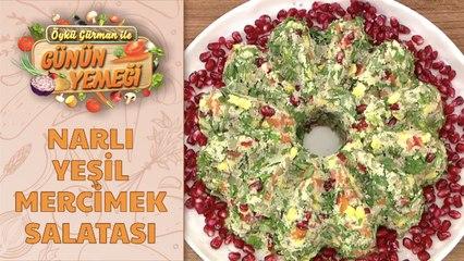 Narlı Yeşil Mercimek Salatası Tarifi