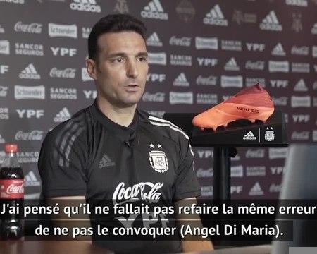 "Argentine - Scaloni : ""Une relation parfaite avec Di Maria"""