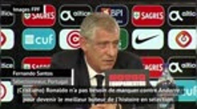 """Portugal - Santos : """"Ronaldo est en manque de rythme"""""""