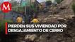 Cientos de casas en riesgo de derrumbarse por desgajamiento de un cerro en Chiapas