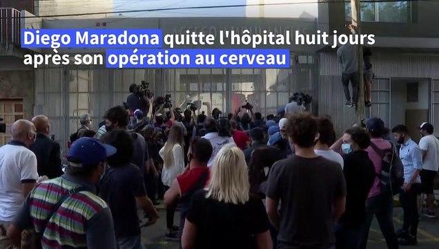 Maradona quitte l'hôpital huit jours après son opération à la tête