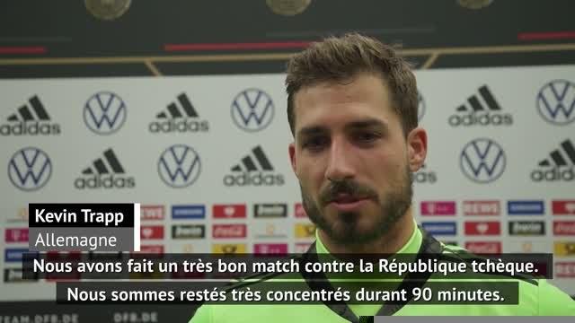 """Allemagne - Trapp : """"Nous avons particulièrement bien joué"""""""