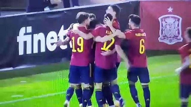 Gol de Adrián Pedrosa con España Sub-21 (12/11/20)