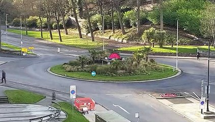 Mystery tent on Scarborough roundabout