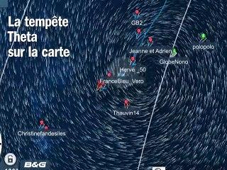 La tempête Theta sur le Virtual Regatta  Vendée Globe