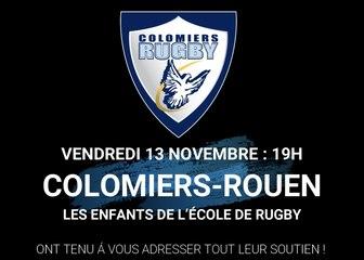 L'école de rugby soutient son équipe 1 !