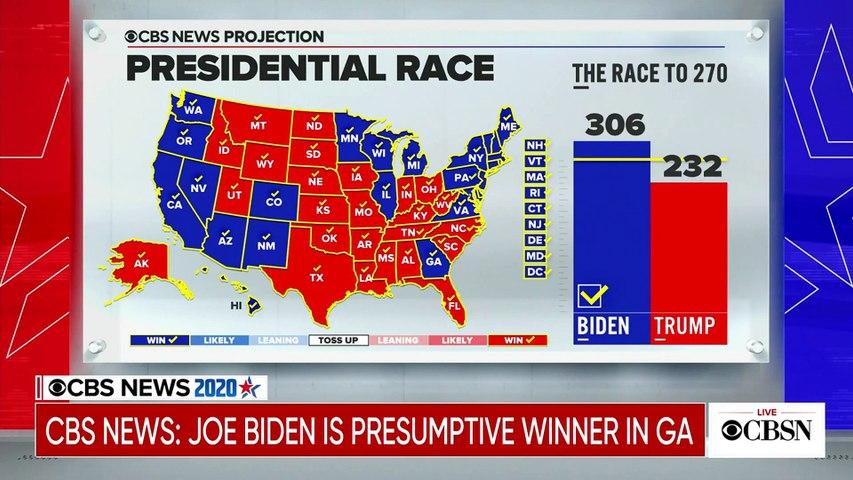 CBS News projects Biden wins Georgia, Trump wins North Carolina
