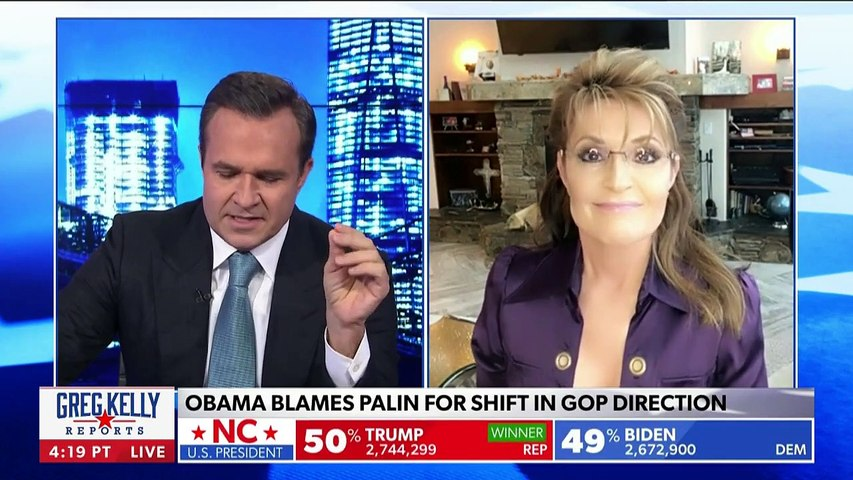 Sarah Palin reacts to Obama calling her out