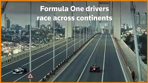 Formula One drivers race across continents