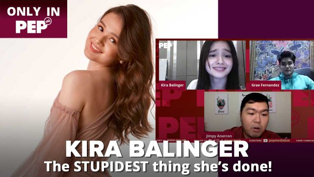 Kira Balinger on the STUPIDEST thing she's done   PEP Exclusives