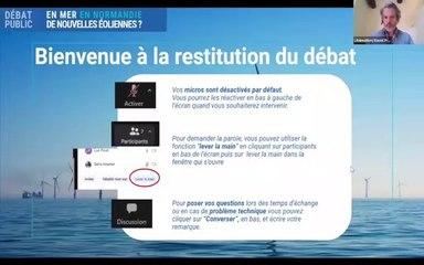 Débat EolMerNormandie - Restitution du débat - 12 Novembre 2020