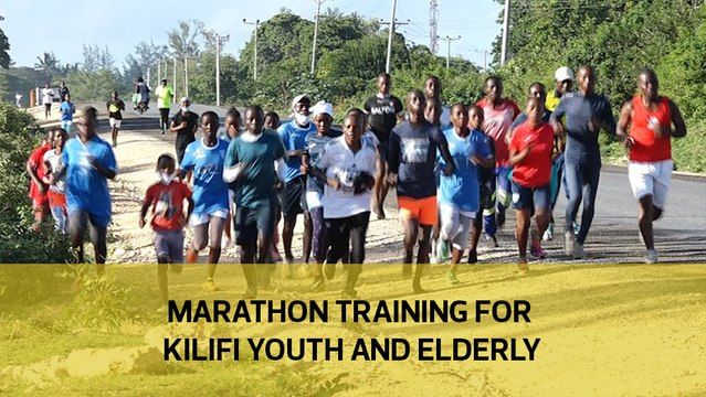 Marathon training for Kilifi youth and elderly