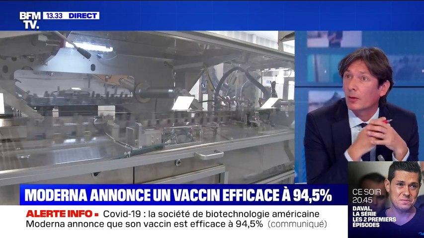 Covid-19: Moderna annonce un vaccin efficace à 94,5%
