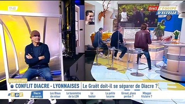 """Estelle Denis vire Raymond Domenech du plateau de """"L'Equipe d'Estelle"""" après une remarque sexiste."""