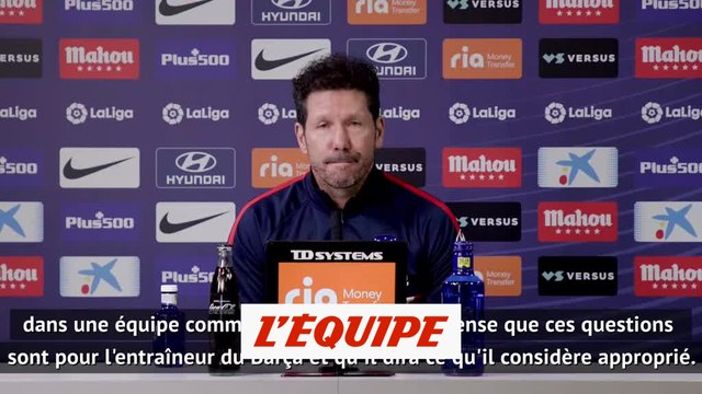 Simeone refuse de commenter la situation de Griezmann au Barça - Foot - ESP - Atlético